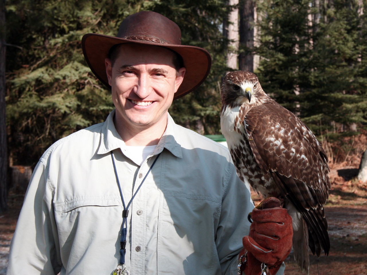 Falconer and Tahoe at Deer Camp 01